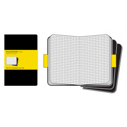 SQUARED CAHIER BLACK COVER XLARGE SET 3