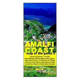 MAP OF THE PATHS OF THE AMALFI COAST. SCALE 1:10.000 VOL.2