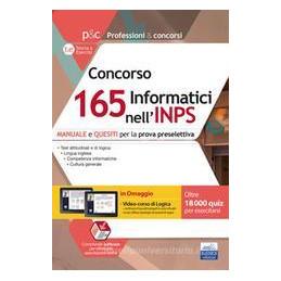 CONCORSO 165 INFORMATICI INPS