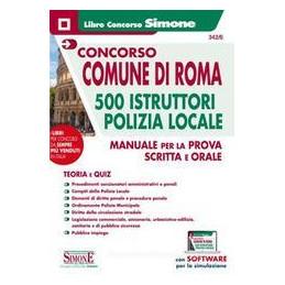 CONCORSO COMUNE DI ROMA 500 ISTRUTTORI POLIZIA LOCALE