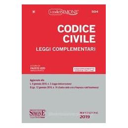 CODICE CIVILE. LEGGI COMPLEMENTARI 219