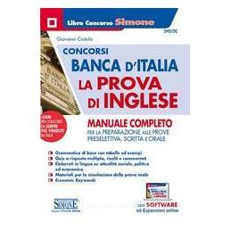 CONCORDO BANCA D`ITALIA LA PROVA D`INGLESE - MANUALE COMPLETO