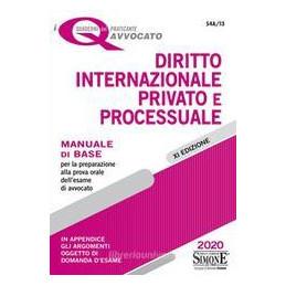 DIRITTO INTERNAZIONALE PRIVATO E PROCESSUALE