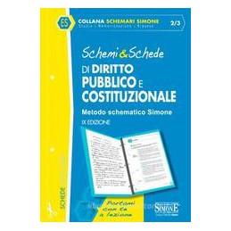 SCHEMI E SCHEDE DI DIRITTO PUBBLICO E COSTITUZIONALE