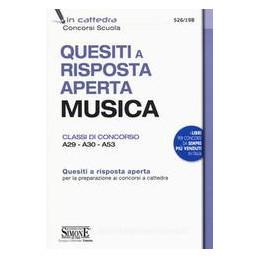 QUESITI A RISPOSTA APERTA MUSICA