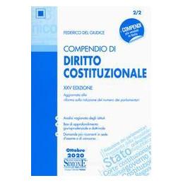 COMPENDIO DI DIRITTO COSTITUZIONALE XXV EDIZIONE