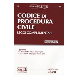 CODICE PROCEDURA CIVILE 2020