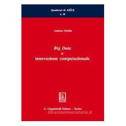 BIG DATA E INNOVAZIONE COMPUTAZIONALE