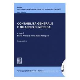 CONTABILITà GENERALE E BILANCIO D`IMPRESA