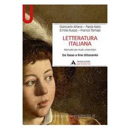LETTERATURA ITALIANA 2 DA TASSO FINE OTTOCENDTO