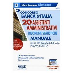 CONCORSO BANCA ITALIA AMMINISTRATIVI MANUALE