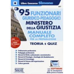 95 FUNZIONARI GIURIDICO  PEDAGOGICI MINISTERO DELLA GIUSTIZIA