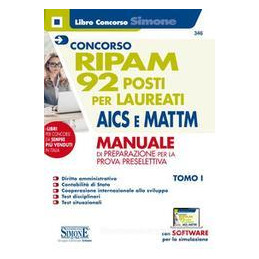 CONCORSO RIPAM 92 POSTI PER LAUREATI AICS E MTTM MANUALE