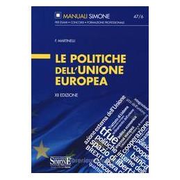 POLITICHE UNIONE EUROPEA