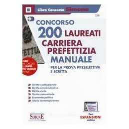 CONCORSO 200 LAUREATI CARRIERA PREFETTIZIA