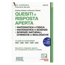 QUESITI RISPOSTA APERTA MATEMATICA A20/26/27/28/50