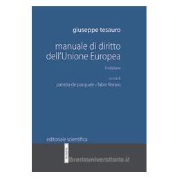 MANUALE DI DIRITTO DELL`UNIONE EUROPEA