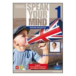 SPEAK YOUR MIND 1 EDITION MYENGLISHLAB SB+WB + CARTOLINA + CD AUDIO  VOL. 1