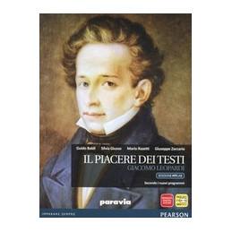PIACERE DEI TESTI  LEOPARDI   EDIZIONE MYLAB LIBRO CARTACEO  + ITE + MYLAB Vol. U