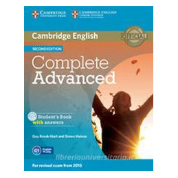 COMPLETE ADVANCED   2ND EDITION STUDENT`S BOOK PACK (STUDENT`S BOOK WITH ANSWERS