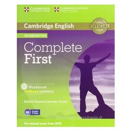 COMPLETE FIRST   2ND EDITION WORKBOOK WO/A + AUDIO CD