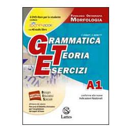 GRAMMATICA TEORIA ESERCIZI VOL.A1 (CON CD E PROVE INGR.)+B A1 FONOL. ORTOG. MORF.; B QUAD.COMP. VOL.