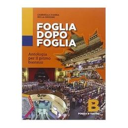 FOGLIA DOPO FOGLIA B . POESIA E TEATRO Vol. U