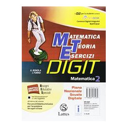MATEMATICA TEORIA ESERCIZI DIGIT MATEMATICA 2 CON DVD E TAV.NUM.+MI PREP.PER INTERROG.+QUAD.COMP. 2+