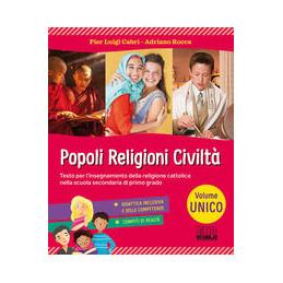 POPOLI RELIGIONI CIVILTA` VOLUME UNICO VOL. U