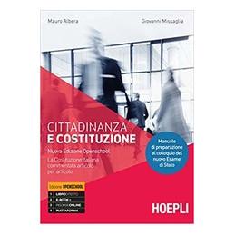 CITTADINANZA E COSTITUZIONE NUOVA EDIZIONE OPENSCHOOL  Vol. U