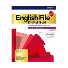 ENGL FILE 4E DIG GOLD A1/A2 STUDENT BOOK/WOORKBOOK W/O KEY+EBOOK+VCHK + SRC VOL. U