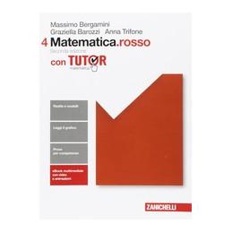 MATEMATICA ROSSO 2ED. - VOLUME 4 CON TUTOR (LDM)  VOL. 2