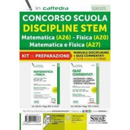 CONCORSO SCUOLA DISCIPLINE STEM MATEMATICA (A26) FISICA (A20) MATEMATICA E FISICA (A27). KIT DI PREP