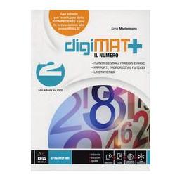 DIGIMAT +    ARITMETICA 2 + GEOMETRIA 2 + QUAD. COMPETENZE 2+ LIBRO DIG. 2  VOL. 2