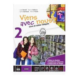VIENS AVEC NOUS! LIVRE ELEVE ET CAHIER D`EXERCICES 2 + EASY BOOK 2 (SU DVD) + EBOOK + CD AUDIO MP3 V