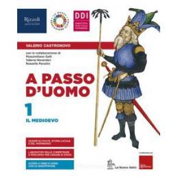 A PASSO D`UOMO - LIBRO MISTO CON LIBRO DIGITALE VOL. 1 + ATL. STORICO + ED. CIVICA + HUB YOUNG + HUB